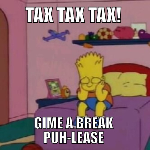Tax Simpsons meme