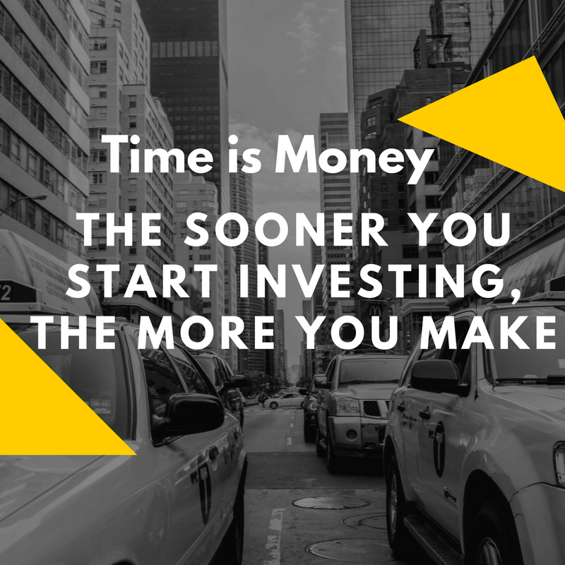 the sooner you start investing, the more you make