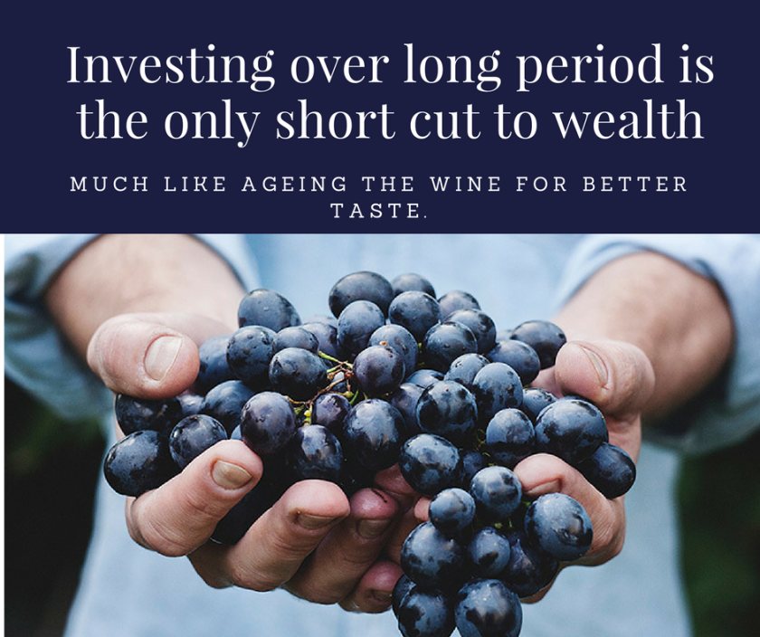 Investing over long period is the only short cut to wealth.